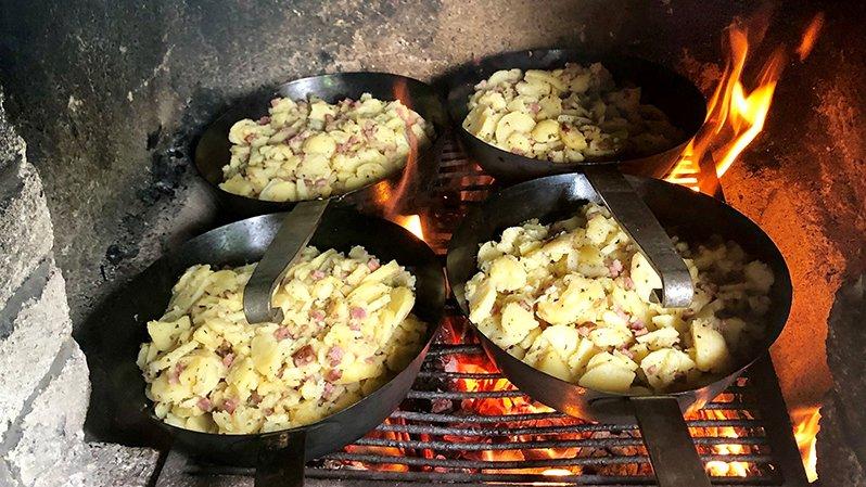 Tiroler Küche mit selber gemachtem Gröstl