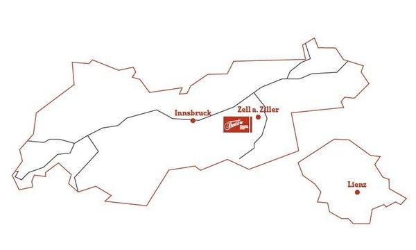 Geografische Karte - Lage Hotel Theresa im Zillertal