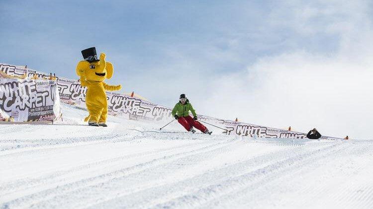 Skirennen im Winterurlaub