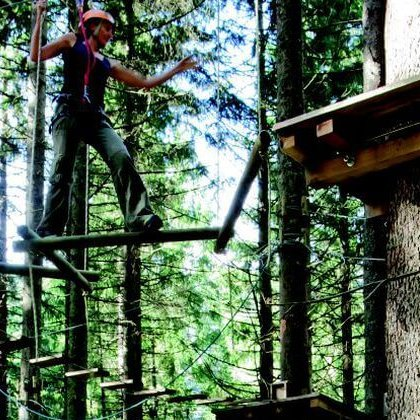 Hochseilgarten Ausflugsziel Zillertal