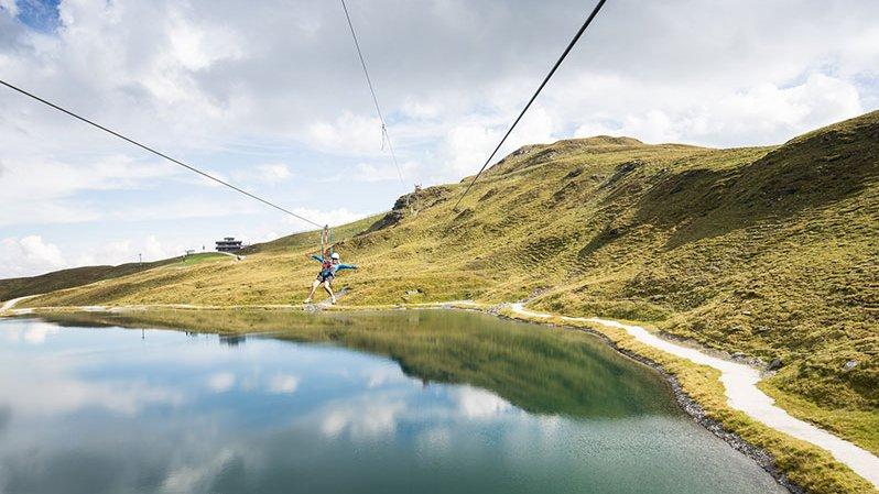 Zipline Action in der Freizeitarena Zillertal