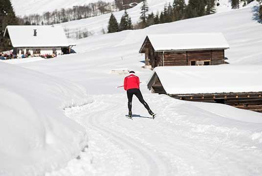Langlaufstrecke im Zillertal