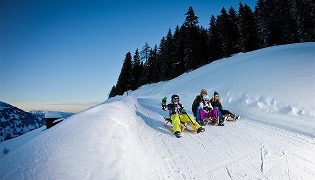 Winterrodeln im Zillertal