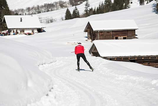 Langlaufstrecke Schoenachtal im Zillertal
