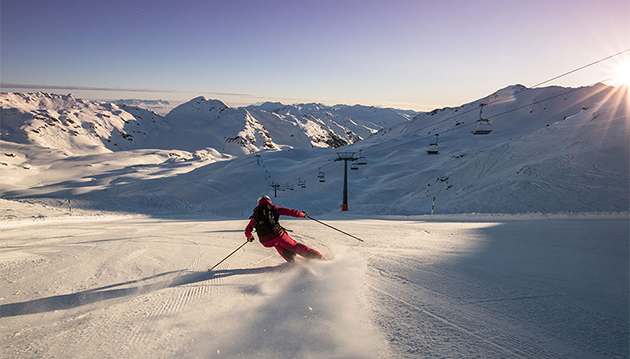 Skiabfahrt für Fortgeschrittene