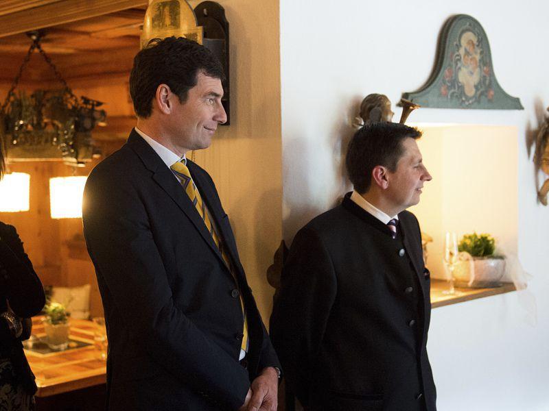 Gäste bei der 50 Jahr Feier im Hotel Theresa in Zell