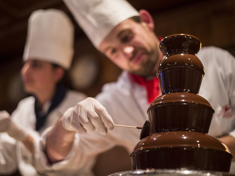 Schokoladebrunnen bei der 50 Jahr Feier im Hotel Theresa in Zell am Ziller