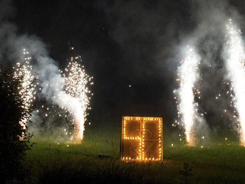 Feuerwerk bei der 50 Jahr Feier im Hotel Theresa in Zell am Ziller