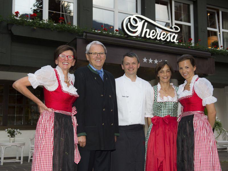 50 Jahr Feier im Hotel Theresa in Zell am Ziller, die Gastgeberfamilie