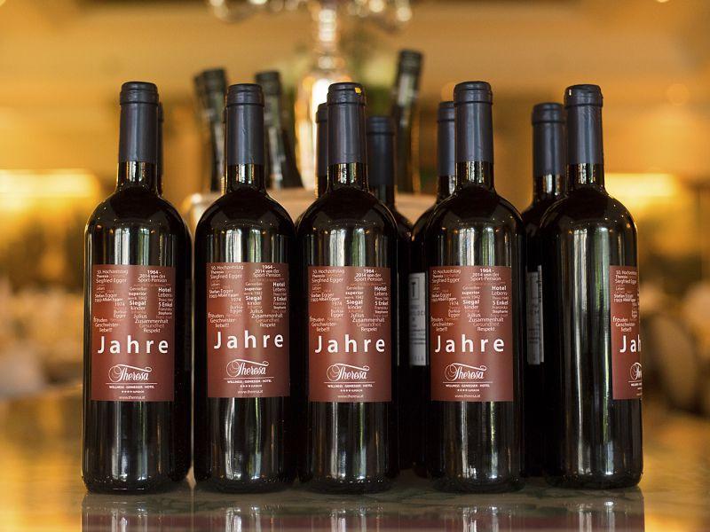 Wein 50 Jahr Feier im Hotel Theresa in Zell am Ziller