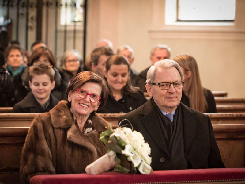 Goldene Hochzeit Feier im Hotel Theresa, in der Kirche