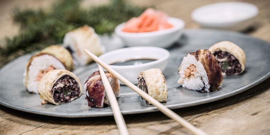Hausgemachtes Sushi im 4 Sterne Hotel Theresa